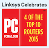 Linksys Celebrates the PCMag Top 4 Routers of 2015