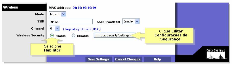 d94f3b95ac OBS  Se a tela da página Web de configuração for diferente no seu ponto de  acesso