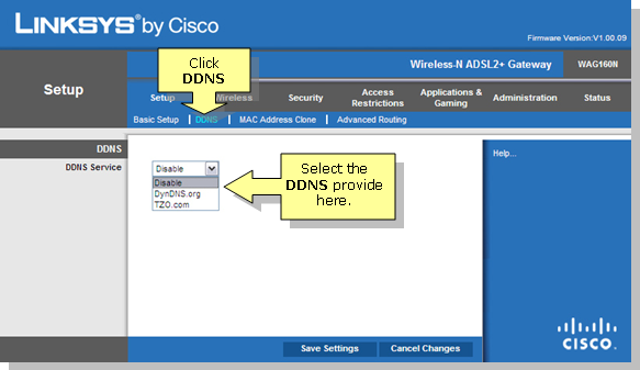 Linksys Official Support - Setting-up DDNS Service on the