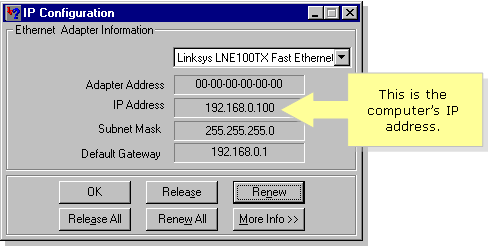 setup ip configuration
