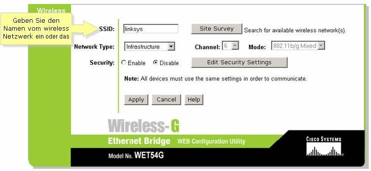Offizieller Support von Linksys - Einstellen der 128-Bit WEP ...