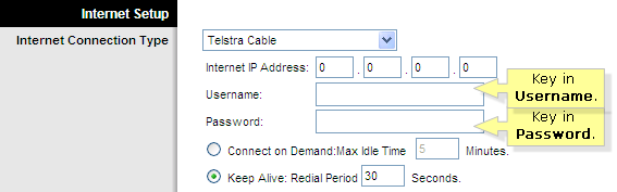 Linksys Official Support - Definition of Telstra Cable and Method to