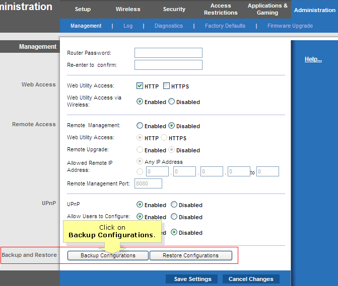 Linksys Official Support - Backup and Restore Configuration Feature