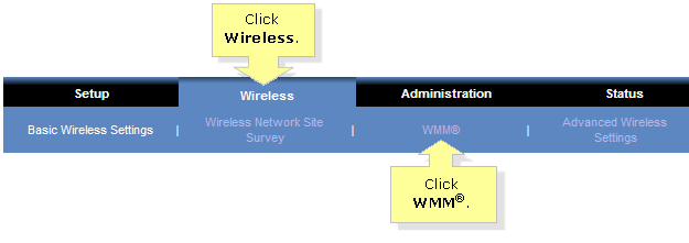 Linksys Official Support - Setting the Wireless Multimedia (WMM
