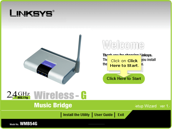 Linksys Official Support - Setting up the WMB54G Wireless-G Music