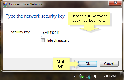 how to get network security key for router