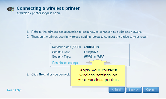 Linksys Official Support - Connecting a wireless printer to