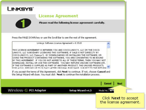 Linksys official support setting up the wmp54g without using the.