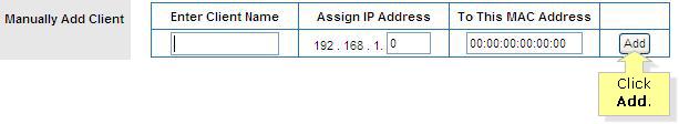 manually assign ip address mac