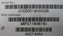 support serial number