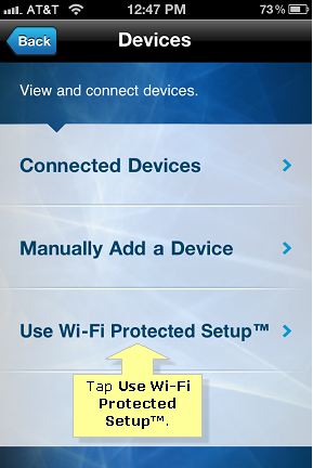 Wps connect Iphone