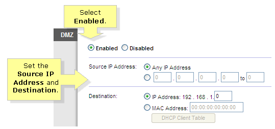 Linksys Official Support - Enabling the DMZ feature in a