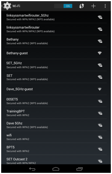 Linksys official support connecting your android device to the wi fi quick tip if your network is secured enter the wireless security password first and tap connect keyboard keysfo Gallery