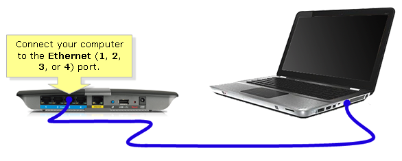 Step 2 Connect The Primary Router To Internet Port Of Linksys Smart Wi Fi