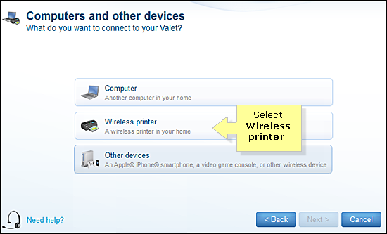 how to set up printer connected to hotspot