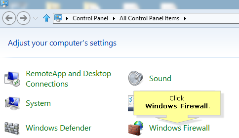 disable firewall win 8