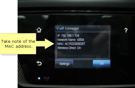 Linksys Ip Address >> Linksys Official Support - Checking the MAC address using your HP® Officejet 6600 printer