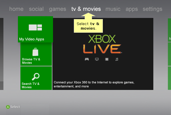 how to browse internet on xbox 360