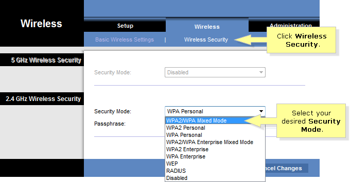 how to change your wireless channel on linksys