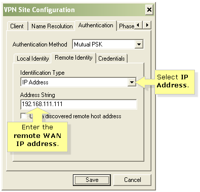 Linksys Official Support - Establishing Client to Gateway IPsec