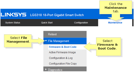 Linksys Official Support - Upgrading the Linksys Smart Switch's firmware