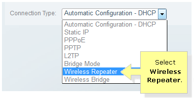 Linksys Official Support - Configuring the Wireless Repeater
