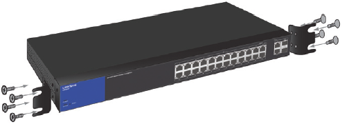 Linksys Official Support - Rack-mounting the Linksys Managed