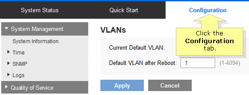 Linksys Official Support - Configuring a VLAN on the Linksys Managed