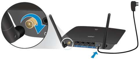 Linksys official support setting up the linksys ac1200 max wi fi note your antennas might look different from the images below if you have the high gain hg antennas you can use them on a regular re6500 greentooth Images