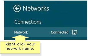 how to change network connection from public to private windows 8.1