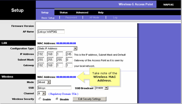 Linksys Official Support - Configuring an Access Point as a Wireless