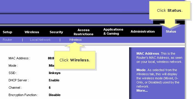 linksys wrt54g manual setup mac