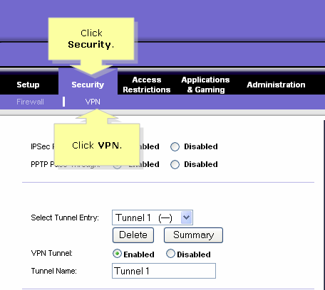 Linksys Official Support - Setting up a VPN Tunnel on two (2) routers
