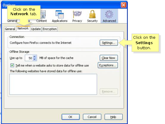 windows proxy settings exceptions